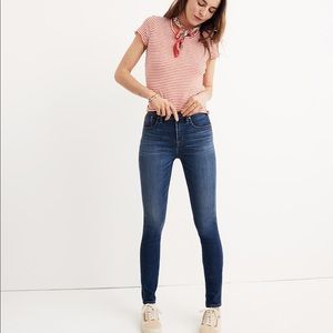 "New Madewell Tall 10"" High-Rise Skinny Jeans Danny"